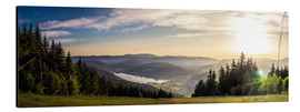 Aluminium print  Sunset at Titisee - Siegfried Heinrich
