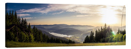 Canvas print  Sunset at Titisee - Siegfried Heinrich