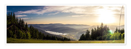 Premium poster Sunset at Titisee