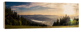 Wood  Sunset at Titisee - Siegfried Heinrich