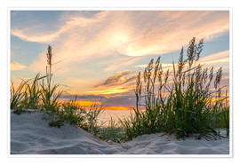 Premium poster  Beach of the Baltic Sea at Sunset - Markus Ulrich