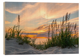 Wood print  Beach of the Baltic Sea at Sunset - Markus Ulrich