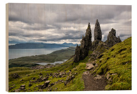 Wood print  Old Man of Storr, Isle of Skye, Scotland - Walter Quirtmair