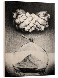 Wood print  Time / Hourglass - EDrawings38