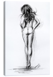 Canvas  Nude female sketch - EDrawings38