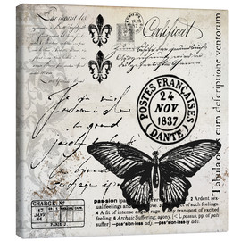 Canvas print  Vintages Butterfly - Andrea Haase