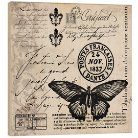Wood print  Vintages Butterfly - Andrea Haase