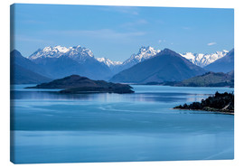 Canvas print  Lake Wakatipu, View direction Glenorchy (New Zealand) - Christian Müringer