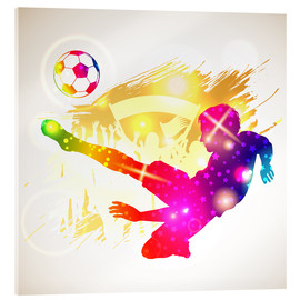 Acrylic glass  Soccer player - TAlex