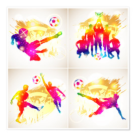 Poster  Soccer Silhouette - TAlex