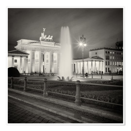 Premium poster Berlin - Brandenburg Gate (Analogue Photography)