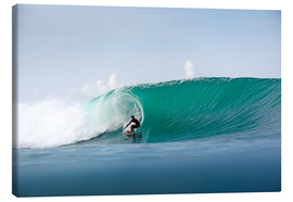 Canvas  Surfer in paradise - big green surfing wave - Paul Kennedy