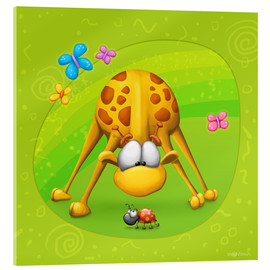 Acrylic print  Giraffe with beetle - Tooshtoosh