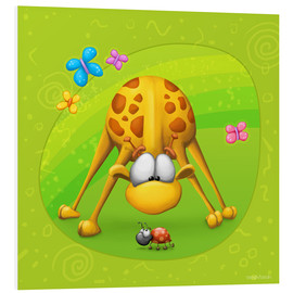 Foam board print  Giraffe with beetle - Tooshtoosh