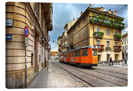 Canvas  Tram in Milan - Filtergrafia