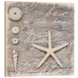 Wood print  From the beach - Andrea Haase