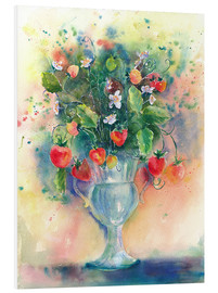 Foam board print  Strawberry bouquet - Jitka Krause