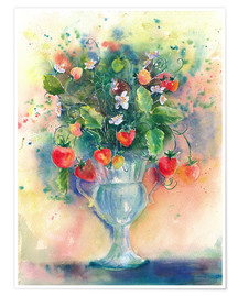 Premium poster Strawberry bouquet