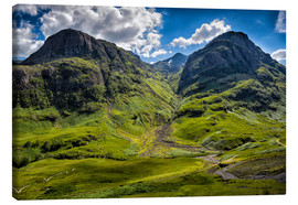 Canvas print  Three sisters, Scotland - Walter Quirtmair