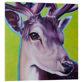Foam board print  deer green - Renate Berghaus