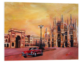 Forex  Milan Cathedral with Oldtimer Convertible Alfa Romeo - M. Bleichner