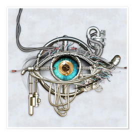 Premium poster  Mechanical eye - diuno