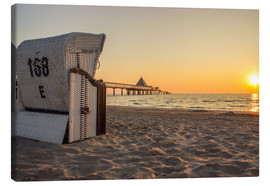 Canvas print  Beach chair on Usedom - Dennis Stracke