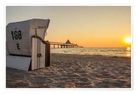 Premium poster  Beach chair on Usedom - Dennis Stracke