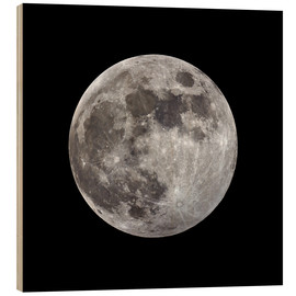 Wood print  Full moon - MonarchC