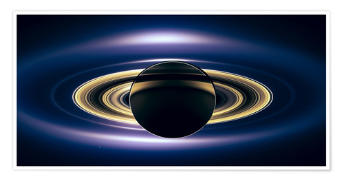 Saturn Eclipse Seen By Cassini Spacecraft Posters And Prints Posterlounge Co Uk