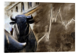 Michael artefacti - Bull in front of Frankfurt Stock Exchange
