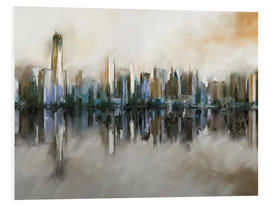 Foam board print  new york skyline abstract painting - Michael artefacti
