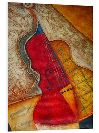 Forex  Violin violin music abstract painting orange structure - Michael artefacti