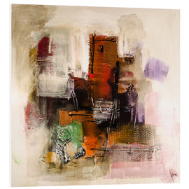 Foam board print  Abstract painting on canvas - modern and contemporary - Michael artefacti