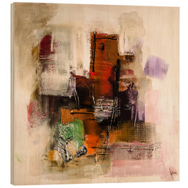 Wood  Abstract painting on canvas - modern and contemporary - Michael artefacti