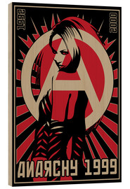 Wood print  Anarchy - dolceQ