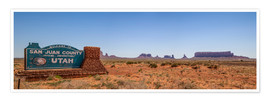 Premium poster Monument Valley USA Panorama III