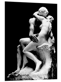 Foam board print  The Kiss - Auguste Rodin