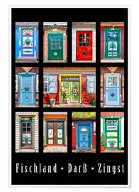 Premium poster  Beautiful doors in Fischland Darss Zingst - Christian Müringer