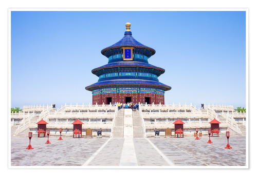 Premium poster Temple of Heaven in Beijing