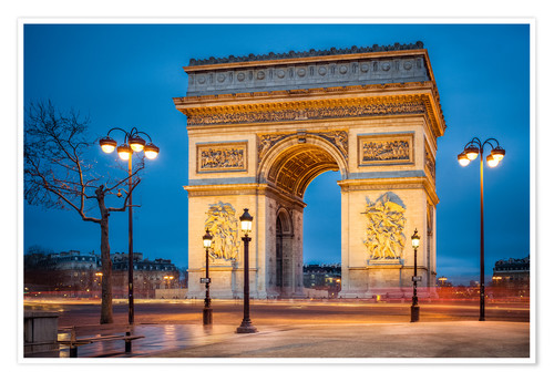 Premium poster Arc de Triomphe in Paris