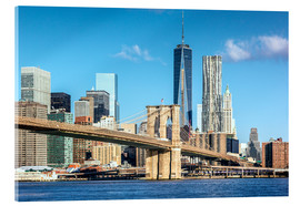 Acrylic print  New York: Brooklyn Bridge and World Trade Center - Sascha Kilmer