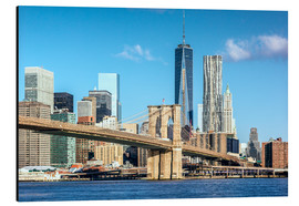 Alu-Dibond  New York: Brooklyn Bridge and World Trade Center - Sascha Kilmer