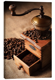 Canvas print  Nostalgic coffee mill - pixelliebe