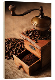 Wood print  Nostalgic coffee mill - pixelliebe