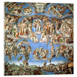 Acrylic glass  The Last Judgement - Michelangelo