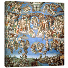 Canvas print  The Last Judgement - Michelangelo