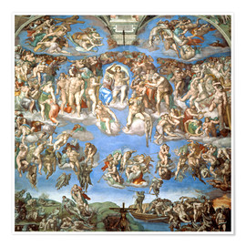 Premium poster  The Last Judgement - Michelangelo