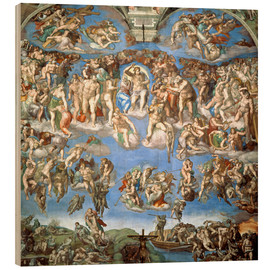 Wood print  The Last Judgement - Michelangelo