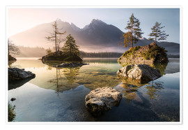 Premium poster Hintersee German Alps